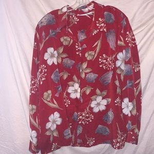 Alfred Dunner Size 24 W Button Down Shirt